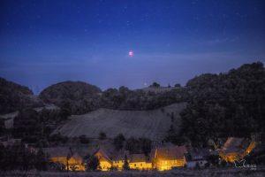 Mondfinsternis und der Mars
